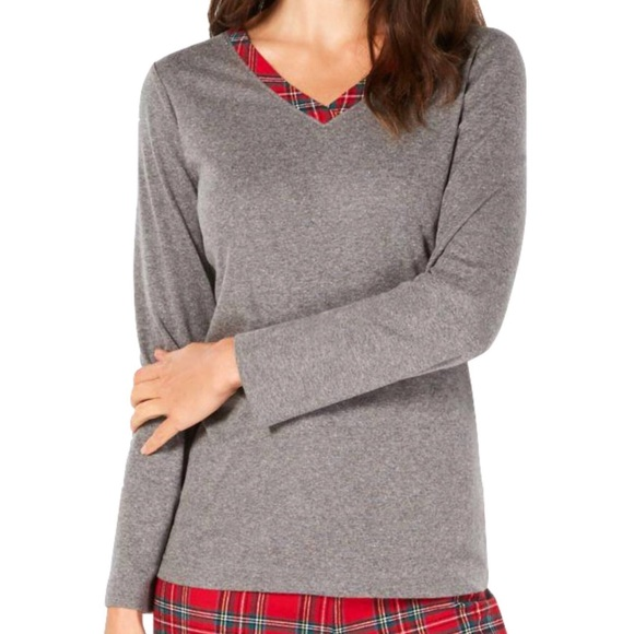 ⭐️ Charter Club Brinkley Plaid Long Sleeved PJ Top